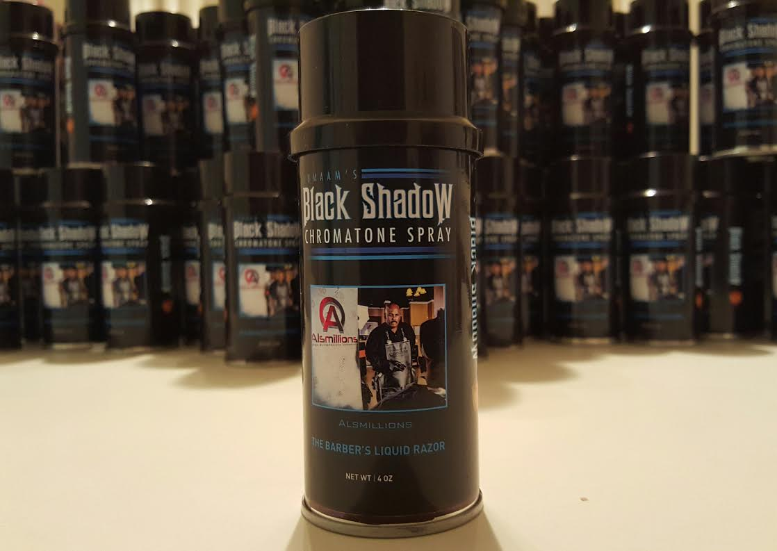 Sharpened up your cuts with our liquid razor, Black Shadow Chromatone Spray. Increase your ticket when you give your client an enhanced hairline and a sharper look. Your cut will stand out every time and you'll attract new clients when you use our enhancement technique. You can also touch up light areas and small bald spots. Get your 4 oz. can today!
